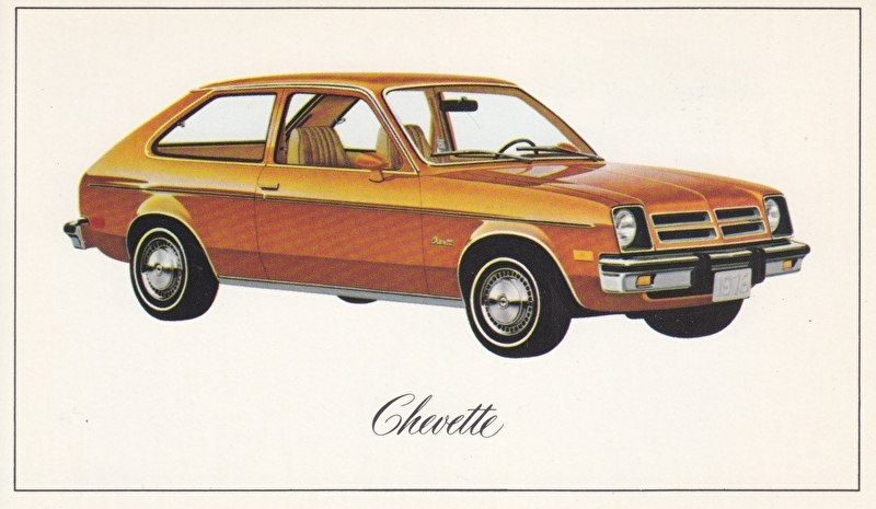 Chevette,  US postcard, standard size, 1976