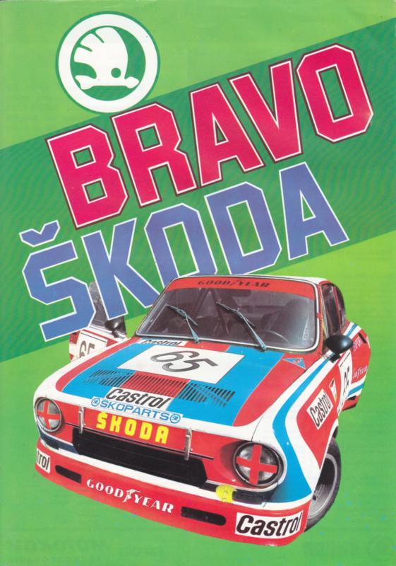 120 L Sedan + racing victories leaflet, 2 pages, German language, about 1980