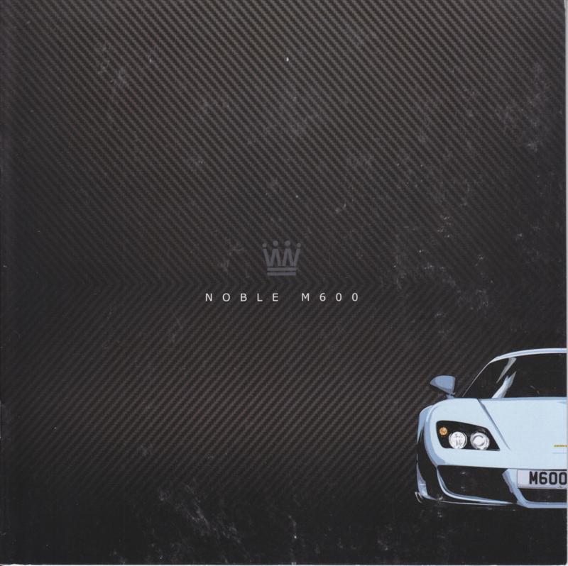 Noble M600 sports car brochure, 20 square pages, English language
