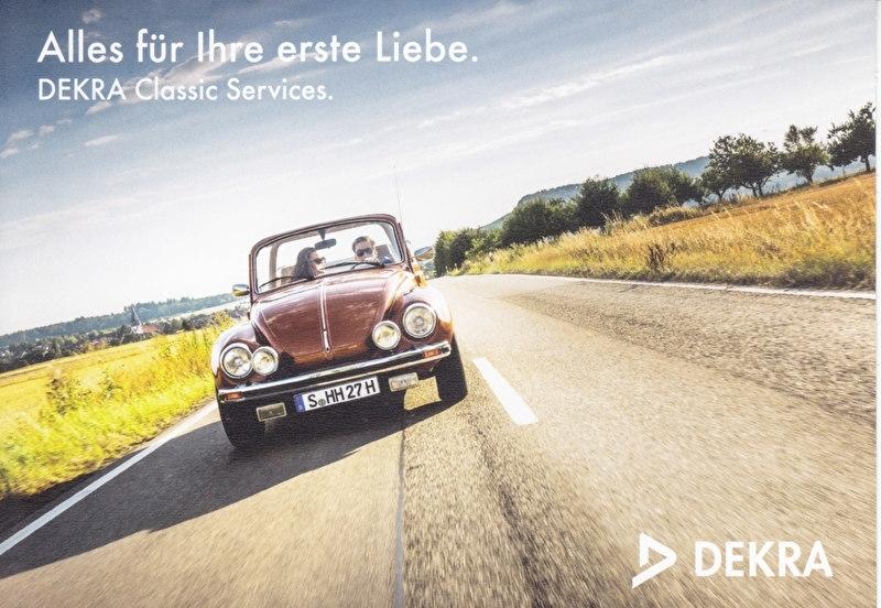 Beetle 1303 Convertible, A6-size postcard, issue Dekra, German, 2015