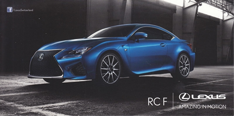 RC F Coupe, 21 x10,5 cm, Swiss postcard, about 2015