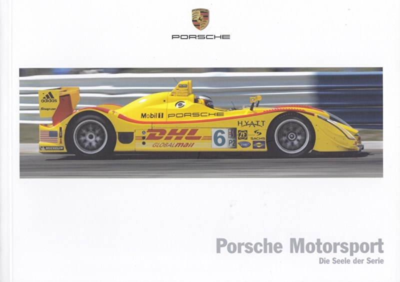 Porsche Motorsport brochure, 84 pages, 04/2006, German language