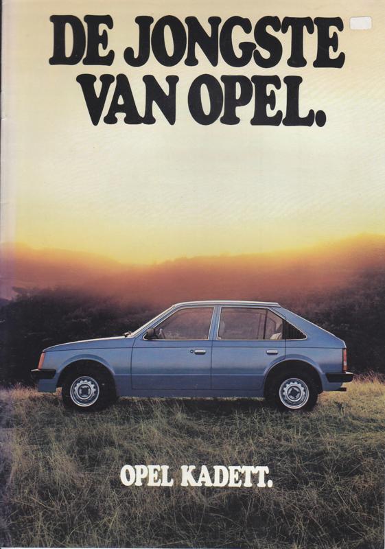 Kadett brochure, 8 pages +  specs., 1980, Dutch language