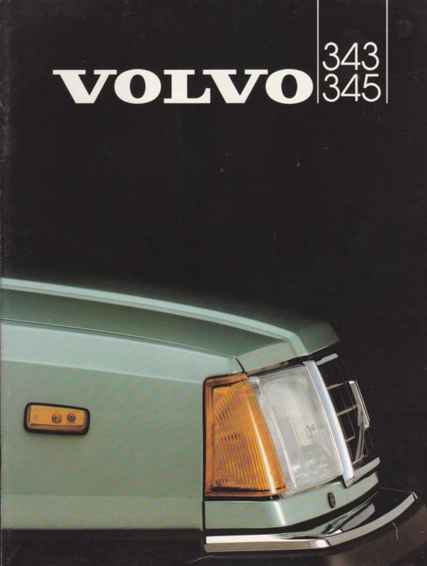 343 & 345 brochure, 26 pages, Dutch language, 1982 (Flemish)