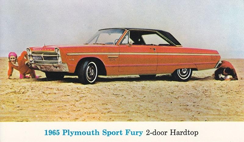 Sport Fury 2-Door hardtop, US postcard, standard size, 1965
