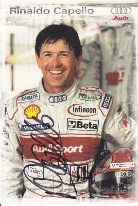 Racing driver Rinaldo Capello, signed postcard 2003 season, German language