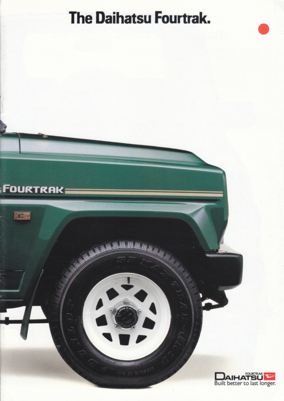 Fourtrak brochure, 14 pages, about 1993, English language