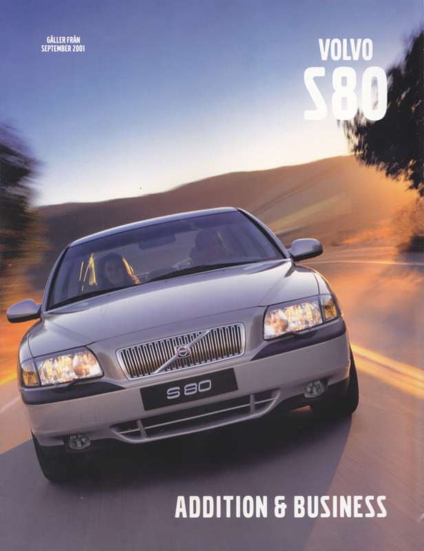 S80 Addition & Business brochure, 8 pages, 9/2001, Swedish language