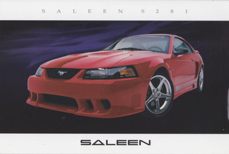 Mustang S 281 Coupe, glossy leaflet, 2003, USA