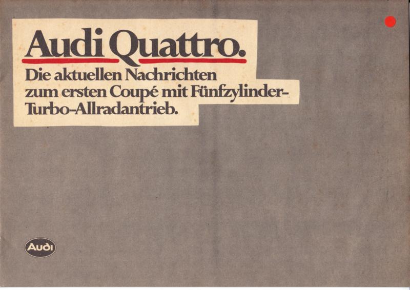 quattro Press comments brochure, 16 pages, 10/1980, German language