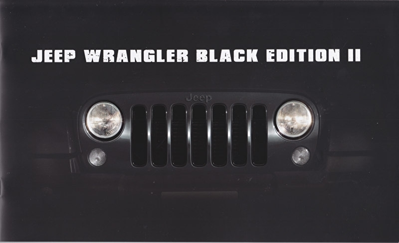 Wrangler Black Edition II, brochure, 12 pages, 07/2015, Dutch language