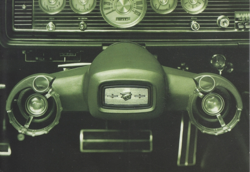 "Steering system ""Twist"" 1966, A6-size postcard for 75 Years Ford Germany, 2000"