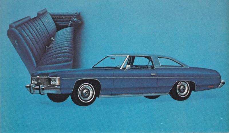 Impala Custom Coupe,  US postcard, standard size, 1974