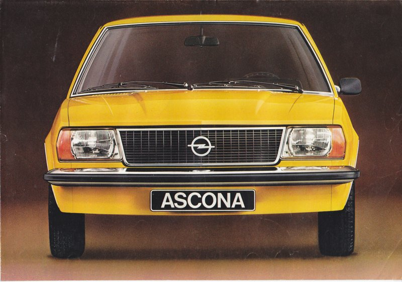 Ascona 2/4-Door brochure, 4 pages, 1976, Dutch language