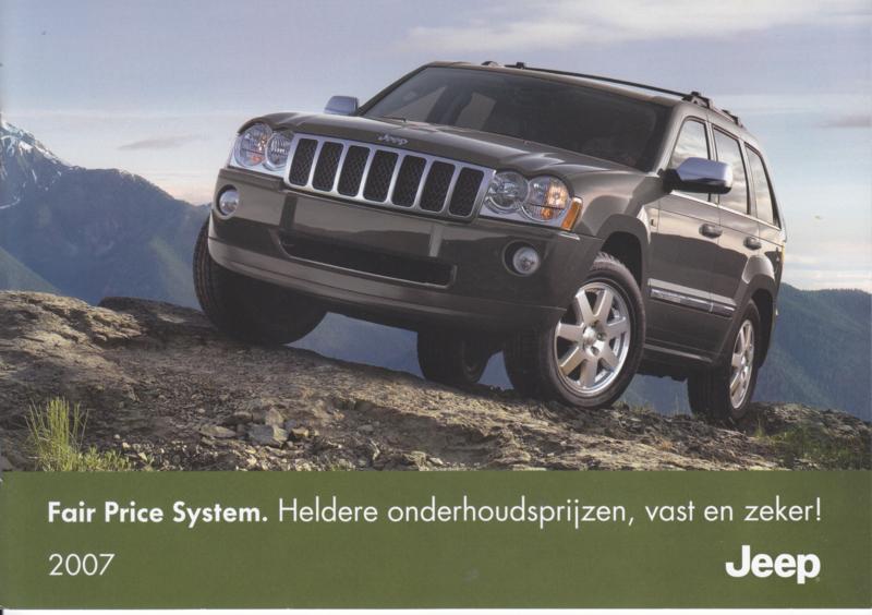 program Fair Price maintenance brochure, 10 pages, 2007, Dutch language