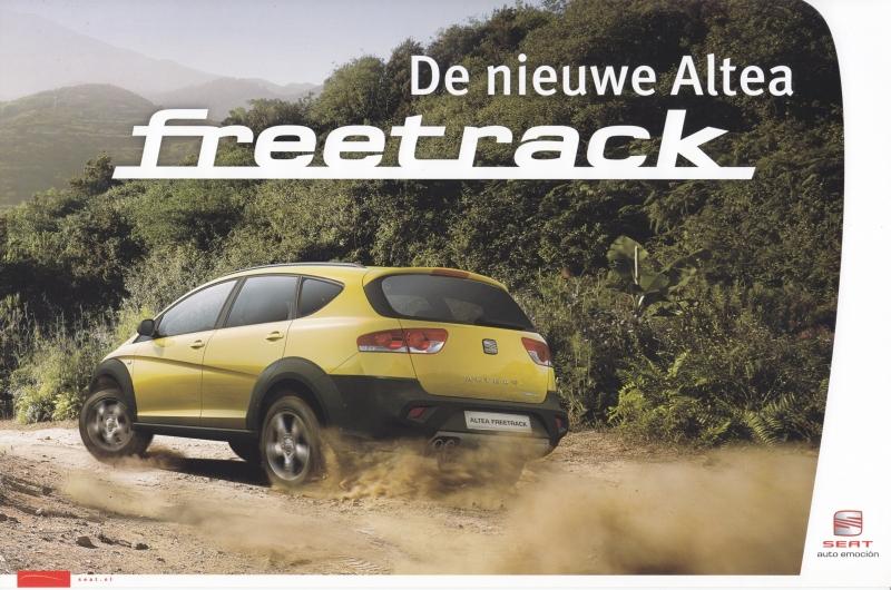 Altea Freetrack, A4-size large postcard, Dutch, about 2007