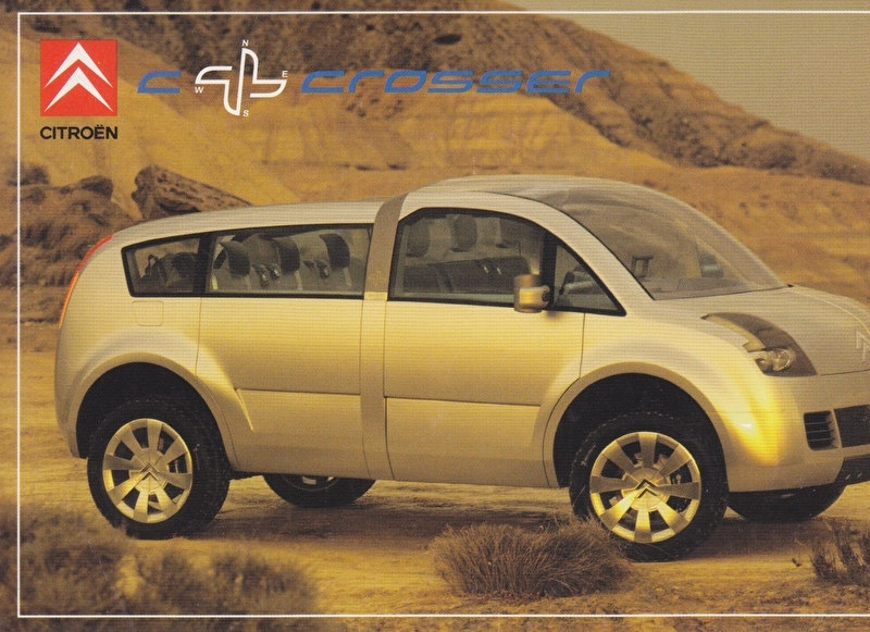 Citroen C-X Crosser, sticker, 10 x 15 cm