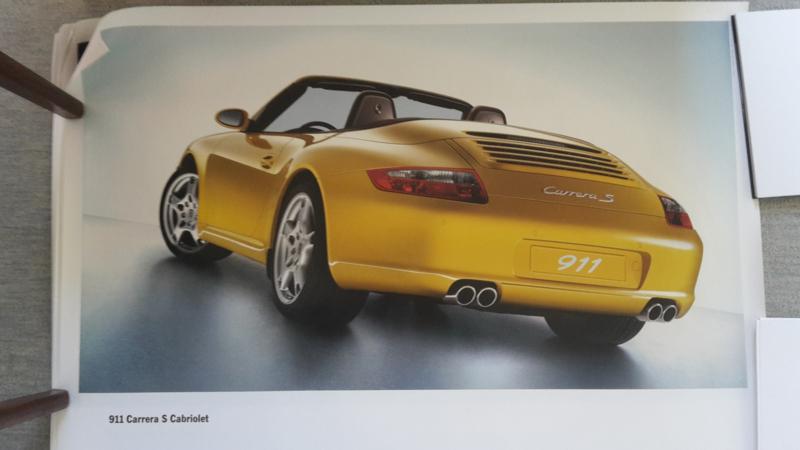 911 Carrera S Cabriolet large original factory poster, published 12/2004