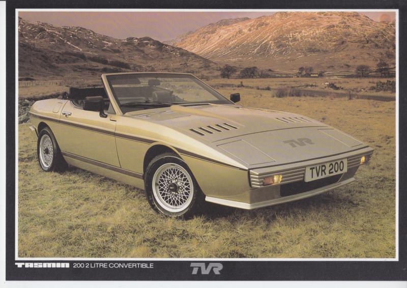 Tasmin 200 2 litre Convertible leaflet, 2 pages, English language, about 1982 *