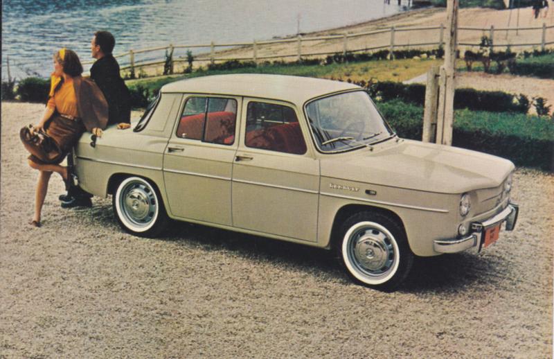 R-8 Sports Sedan, standard size postcard, US market, approx. 1966