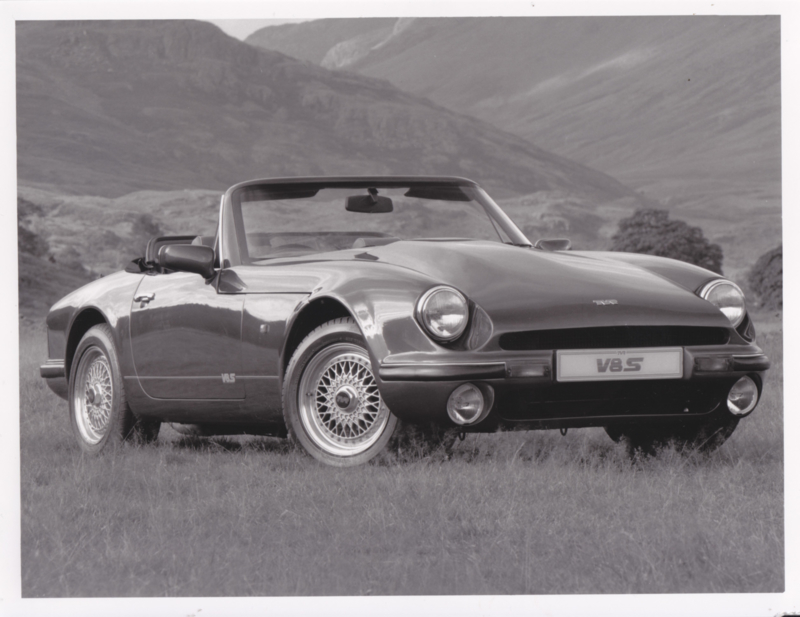 TVR V8S convertible - factory photo - about 1991