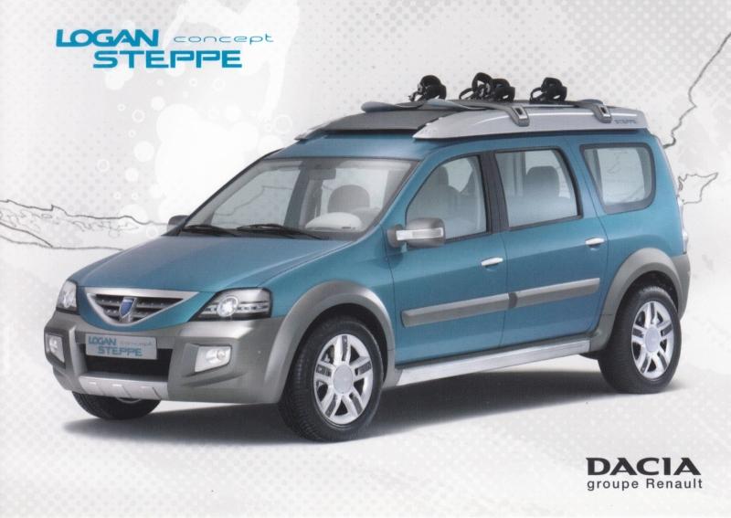 Logan Steppe concept car, DIN A6 postcard, Swiss issue, 2006 Geneva show