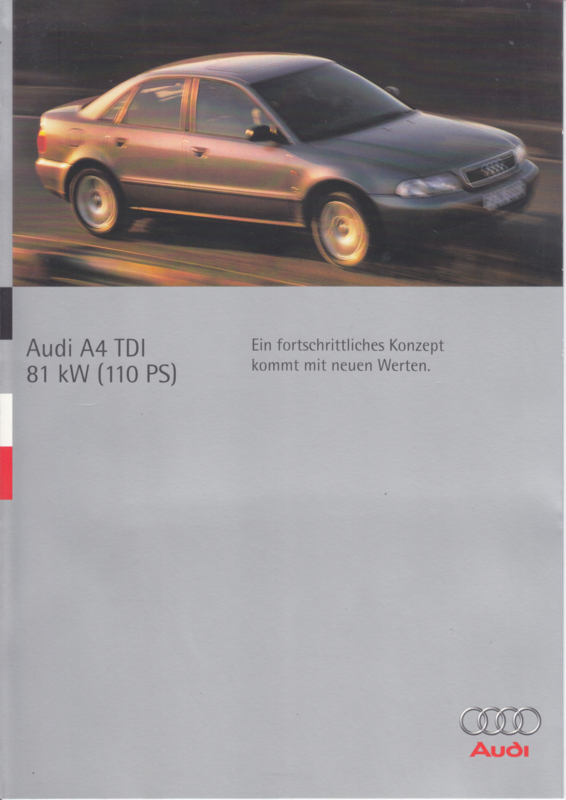 A4 TDI brochure, 6 pages, 08/1995, German language