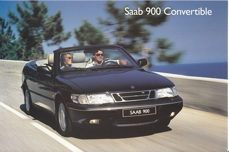 900 Convertible 1994, Swedish, factory-issue, # 264 689, A5-size