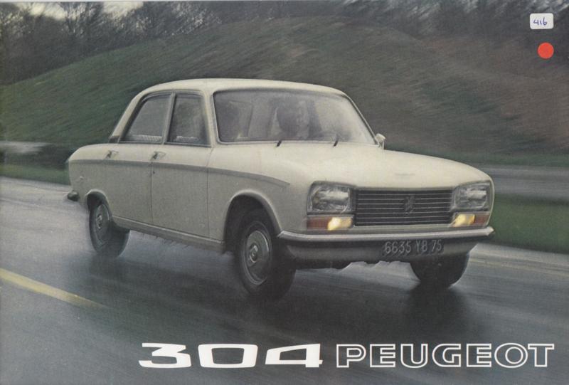 304 Sedan & Break brochure, 12 pages, A4-size, 07/72, Dutch language