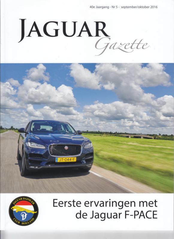 Jaguar & Daimler owners club magazine,  A4-size, 76 pages, Dutch language, issue 5 (2016)