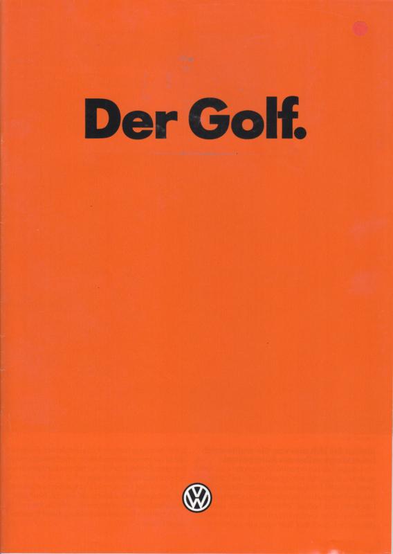 Golf brochure, 32 pages,  A4-size, German language, 08/1981