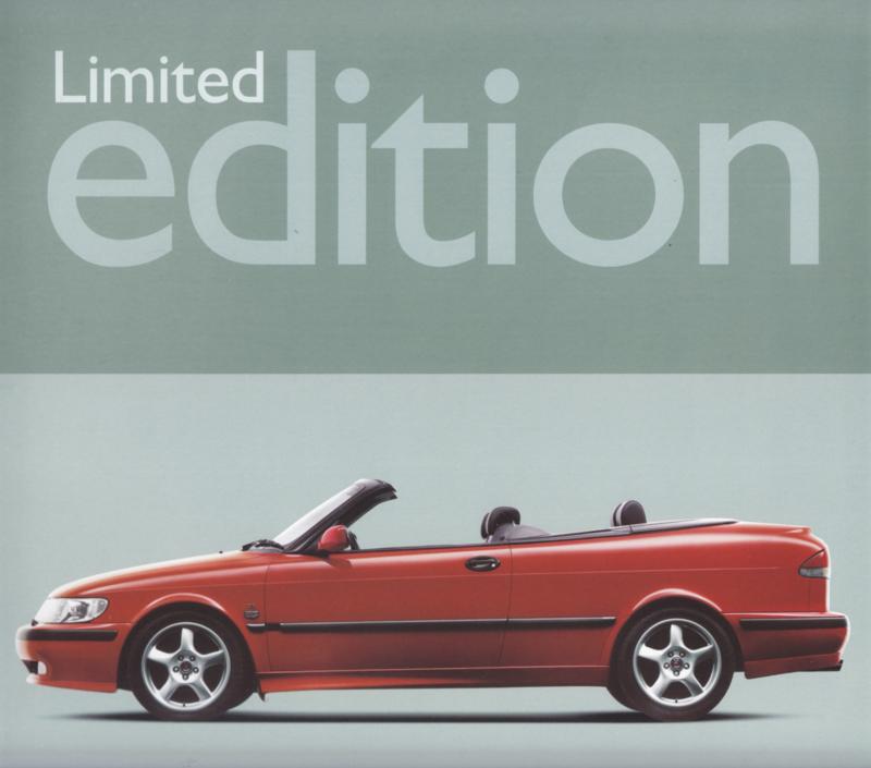 9-3 Cabriolet Limited edition leaflet, 2 pages, 2000, Dutch language, # 630947
