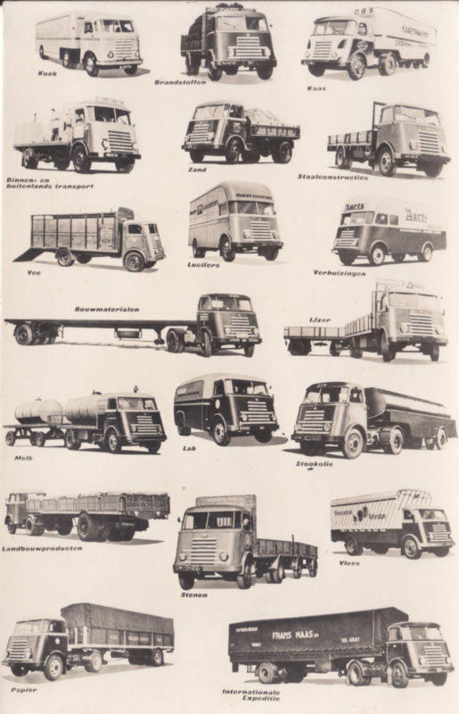 Program Trucks 1956, standard size, factory issue, 4 languages, date 11/55