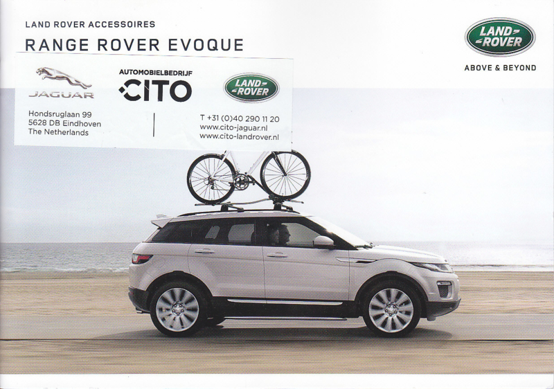 Evoque accessories brochure, 20 A5-size pages, 12/2016, Dutch language