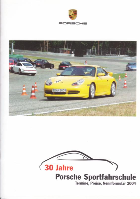 Sportfahrschule brochure, 16 pages, 02/2004, German language