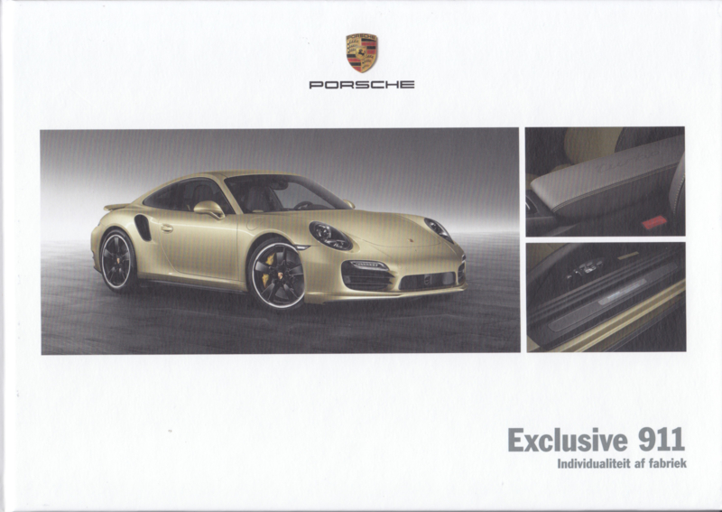 911 Exclusive brochure, 56 pages, 04/2013, hard covers, Dutch