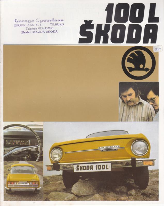 100 L Sedan brochure, 16 pages, Dutch language, about 1980