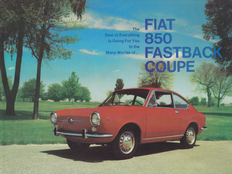 850 Fastback Coupé USA brochure, 4 pages, 5/1967, English language