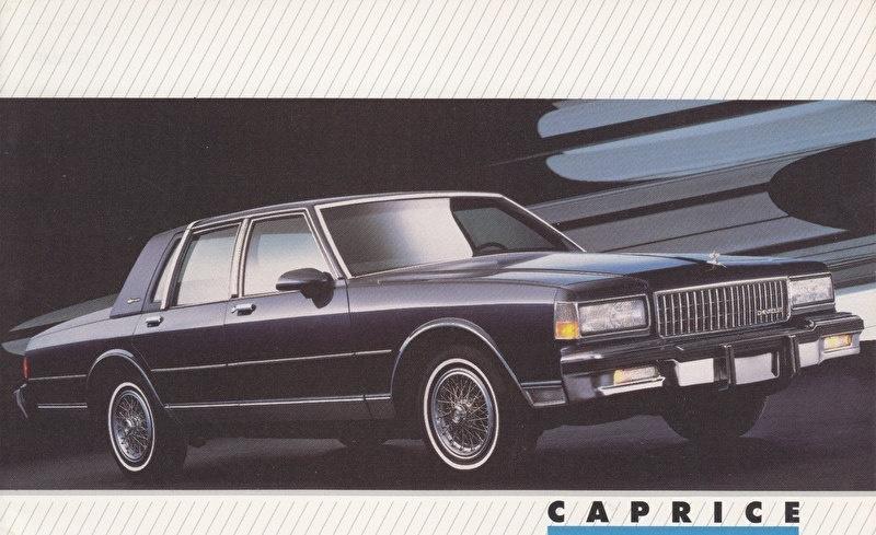 Caprice,  US postcard, large size, 19 x 11,75 cm, 1988