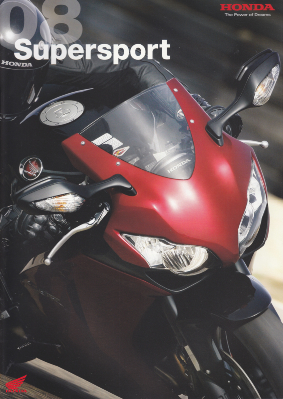 Honda Supersport brochure, 28 pages, 2008, French language