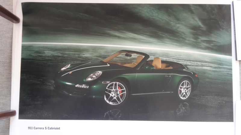 911 Carrera S Cabriolet large original factory poster, published 03/2008