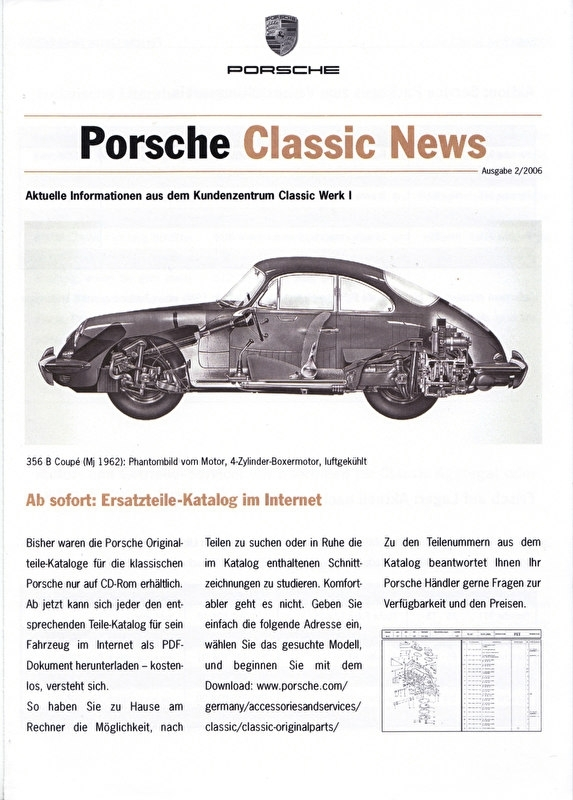Classic News folder, 4 pages, 02/2006, German