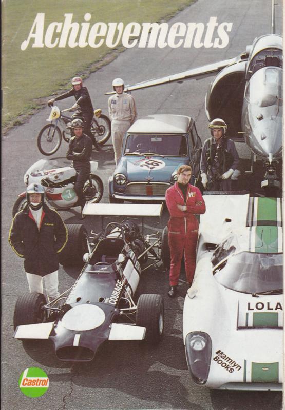 Castrol Achievements magazine,  A5-size, 42 pages, 1969, English language