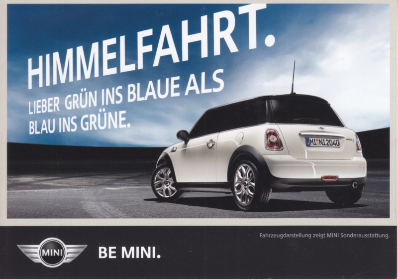 Cooper D diesel postcard, DIN A6-size, about 2014, German language