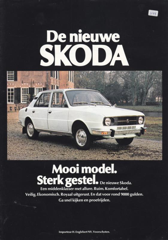105/120 Sedan leaflet, 2 pages, Dutch language, about 1983