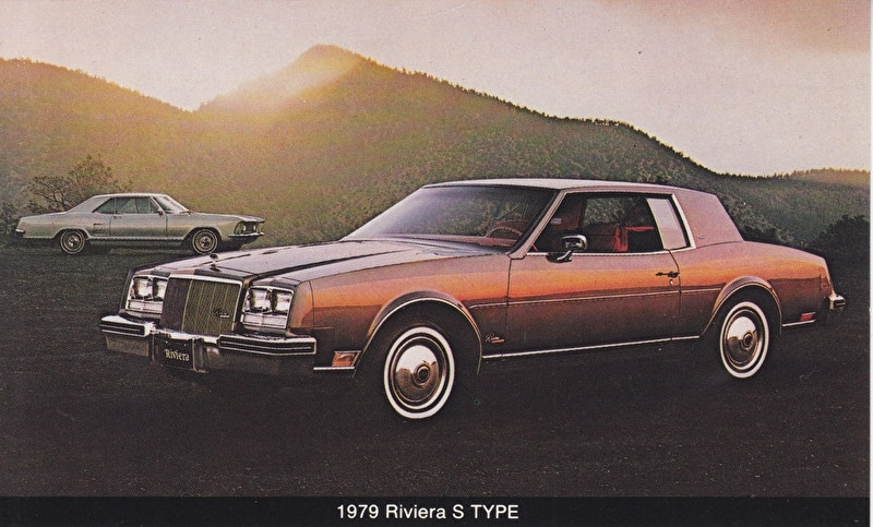 Riviera  S Type, US postcard, standard size, 1979