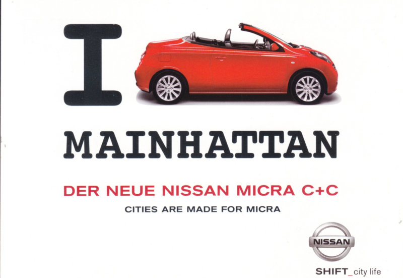 Micra C+C,  A6-size postcard, 2006, German language