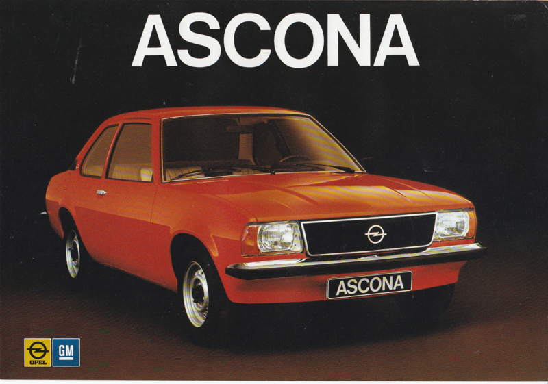 Ascona 2/4-Door brochure, 4 pages, about 1976, Dutch language