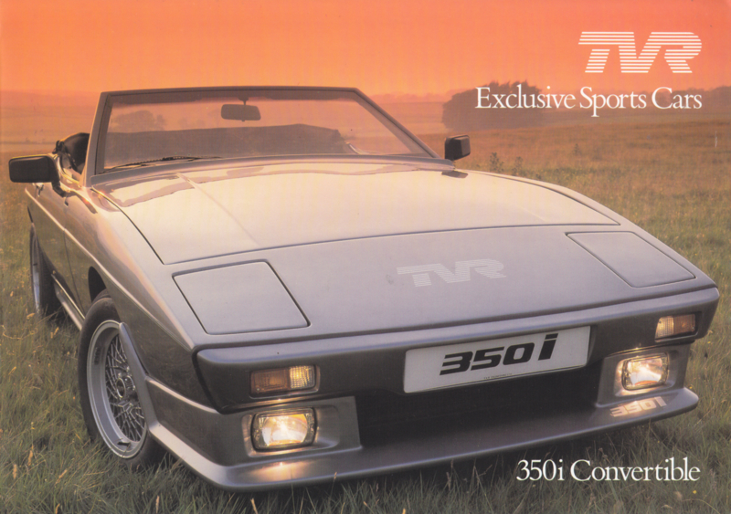 350i Convertible brochure, 4 pages, English language, 1986 (also 280i USA)
