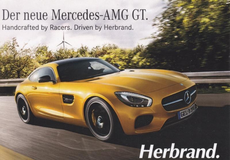 AMG GT sportscar, A6-size postcard, dealer-issued, German
